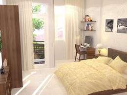 Xây nhà 2 tầng thiết kế 3 phòng ngủ rộng thoáng chỉ với 680 triệu:  Phòng ngủ by Công ty TNHH Xây Dựng TM – DV Song Phát