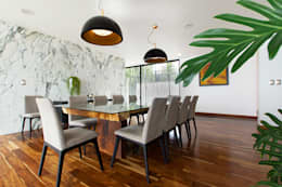 minimalistic Dining room by Dionne Arquitectos