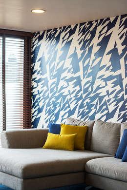 Casa Nochebuena: Salas de estilo minimalista por Dionne Arquitectos