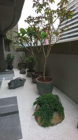 小陽台規劃:  禪風庭院 by 大地工房景觀公司