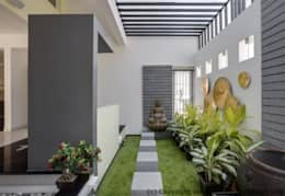 Striking House Landscape Designs: 40×60, 4BHK: asian Houses by M/S Ashwin Architects