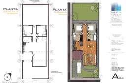 Planta Conjunto y trazos:  de estilo  por Aval Proyectos