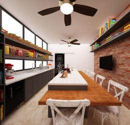 Cozinha Gourmet: Cozinhas rústicas por AM arquitetura e interiores