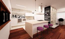 Cozinha: Armários e bancadas de cozinha  por AM arquitetura e interiores