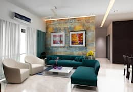 Subramaniam krishnan: modern Living room by Neelanjan Gupto Design Co
