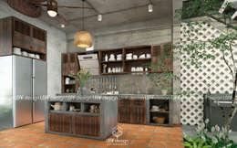 Cảm xúc Á Đông - Nhà phố Sài Gòn:  Nhà bếp by LEAF Design