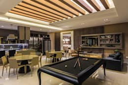 salão de festas : Salas de estar modernas por TRÍADE ARQUITETURA