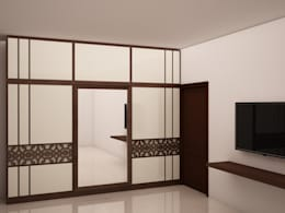 Wardrobe and  TV unit : modern Bedroom by NVT Quality Build solution