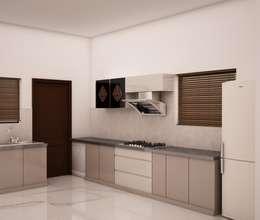Modern kitchen: modern Kitchen by NVT Quality Build solution