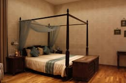 Bed Room : colonial Bedroom by RA LIFESTYLES
