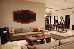 Living Area: eclectic Living room by RA LIFESTYLES