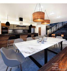 Residencia SZ [León, Gto.]: Comedores de estilo moderno por 3C Arquitectos S.A. de C.V.