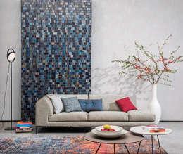 Năm 2018 sẽ là năm đánh dấu cho những màu sắc trung tính mang lại sự ấm cúng.:  Phòng khách by Công ty TNHH Xây Dựng TM DV Song Phát