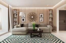 Loại bỏ những chi tiết rườm ra sẽ khiến cho kiến trúc không gian trở nên nổi bật.:  Phòng khách by Công ty TNHH Xây Dựng TM DV Song Phát