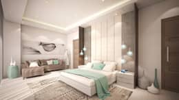 Guest Bedroom: modern Bedroom by Dessiner Interior Architectural