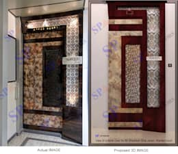 Actual image and Proposed 3d views:  Doors by SP INTERIORS