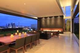 BR HOUSE: Salas de estilo moderno por Hernandez Silva Arquitectos