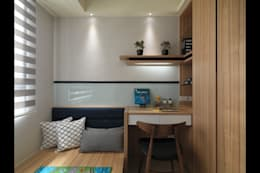 壁意盎然:  臥室 by 珍品空間設計   JP SPACE  DESIGN STUDIO