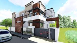 Kothari Residence, Bagalkot:  Single family home by Cfolios Design And Construction Solutions Pvt Ltd