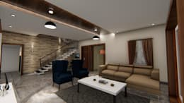 Sitting Arrangements: modern Living room by Cfolios Design And Construction Solutions Pvt Ltd