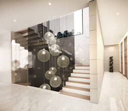 Staircase:  Stairs by Dessiner Interior Architectural