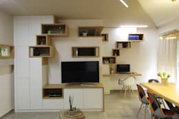 Salas multimedia de estilo escandinavo por ARCHITÈ