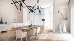 Dining Room: modern Dining room by Dessiner Interior Architectural