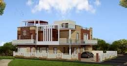 Exterior: modern Houses by Kapilaz Space Planners & Interior Designer