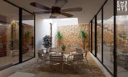 TERRAZA VISTA 1: Terrazas de estilo  por EMERGENTE | Arquitectura