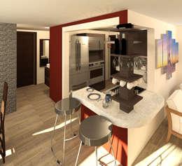 Desayunador: Cocinas de estilo moderno por Perfil Arquitectónico