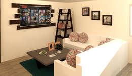 Sala: Salas de estilo moderno por Perfil Arquitectónico