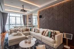 Projekty,  Pokój multimedialny zaprojektowane przez PT. Dekorasi Hunian Indonesia (D&H Interior)