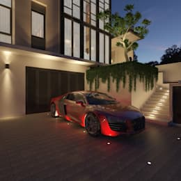 PRIVATE RESIDENTIAL @ NAVAPARK, BSD CITY, TANGERANG:  Rumah tinggal  by PT. Dekorasi Hunian Indonesia (D&H Interior)
