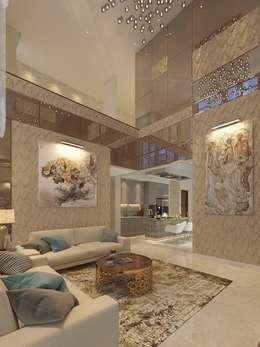 PRIVATE RESIDENTIAL @ NAVAPARK, BSD CITY, TANGERANG:  Ruang Keluarga by PT. Dekorasi Hunian Indonesia (D&H Interior)