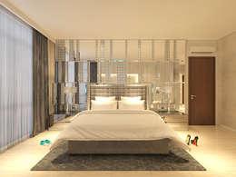 PRIVATE RESIDENTIAL @ NAVAPARK, BSD CITY, TANGERANG:  Kamar Tidur by PT. Dekorasi Hunian Indonesia (D&H Interior)