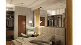 LUXURIOUS MASCULINE APARTMENT @ SEASON CITY, WEST JAKARTA:  Kamar Tidur by PT. Dekorasi Hunian Indonesia (D&H Interior)