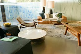 Crema Marfil Marble Table Top at Solinea Tower 1 Lobby:   by Stone Depot