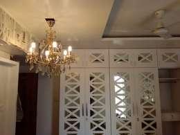 Mirror & Duco Work Cupboard in Mystique Moods, Viman Nagar: scandinavian Bedroom by Umbrella Tree Designs
