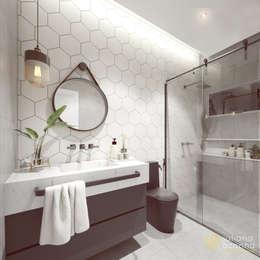Banheiro Social: Banheiros industriais por Juliana Azanha | Arquitetura e Interiores
