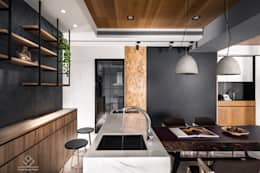 餐廳設計:  餐廳 by 極簡室內設計