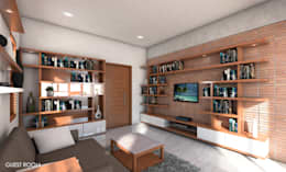 Home interiors - Bangalore: modern Living room by ergate