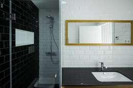 Depois - WC Suite: Casas de banho modernas por Sérgio Coimbra Martins, Unipessoal, Lda