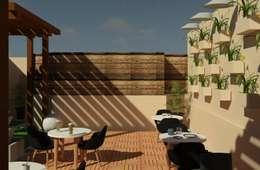 Terraza: Terrazas de estilo  por Perfil Arquitectónico