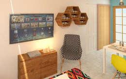 Mueble de TV: Cavas de estilo moderno por Perfil Arquitectónico