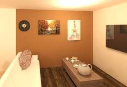 Sala: Salas multimedia de estilo moderno por Perfil Arquitectónico