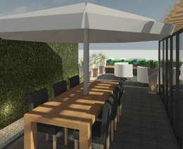 Comedor exterior: Terrazas de estilo  por Perfil Arquitectónico