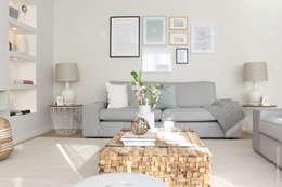 HOUSE LIBERDADE: Salas de estar escandinavas por Catarina Batista Studio