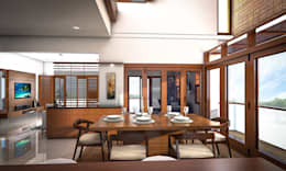 Home interiors: modern Dining room by ergate