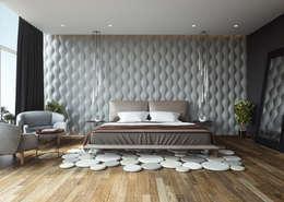 Recámara: Recámaras de estilo moderno por Adriel Padilla Arquitectos