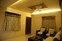 Mr. Gupta Kondapur Naani: modern Living room by Ghar Ek Sapna Interiors